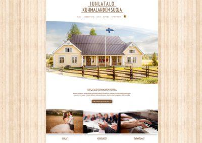 Juhlatalo Kuhmalahden Suoja | Internetsivut | www.juhlatalokuhmalahdensuoja.com