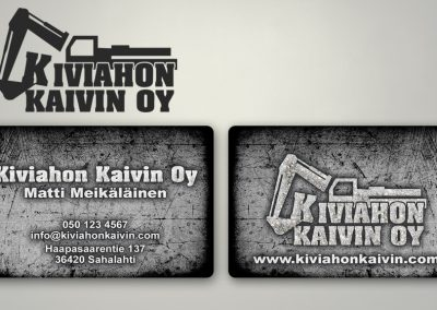 Kiviahon Kaivin Oy | Logo ja käyntikortti
