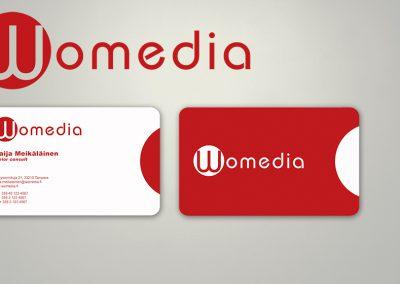 Womedia | Logo ja käyntikortti